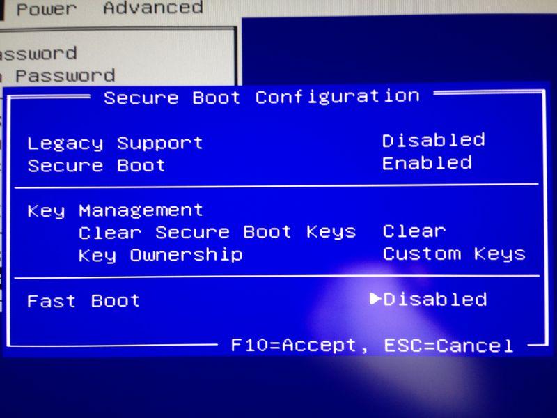 Secure Boot设置