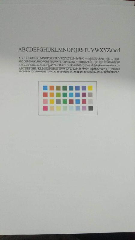 清洁墨盒打印测试,色块和女人头像颜色问题差不多