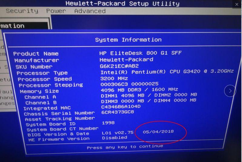 已经升级最新的BIOS
