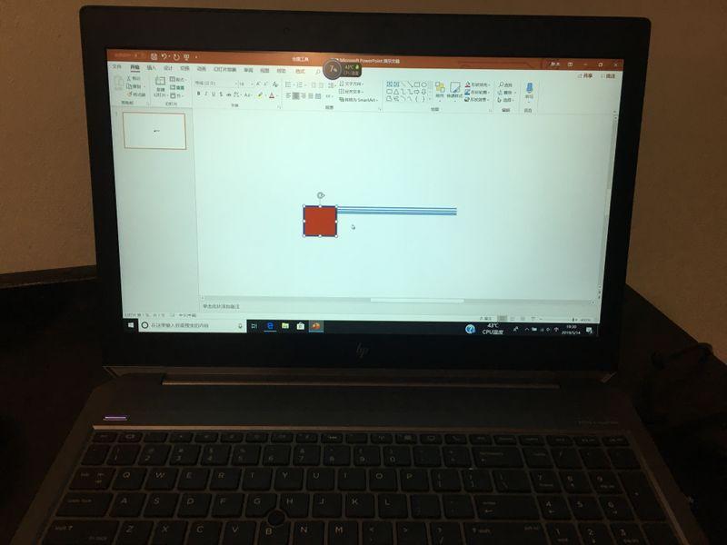 我在PPT上建了一个红色的图框