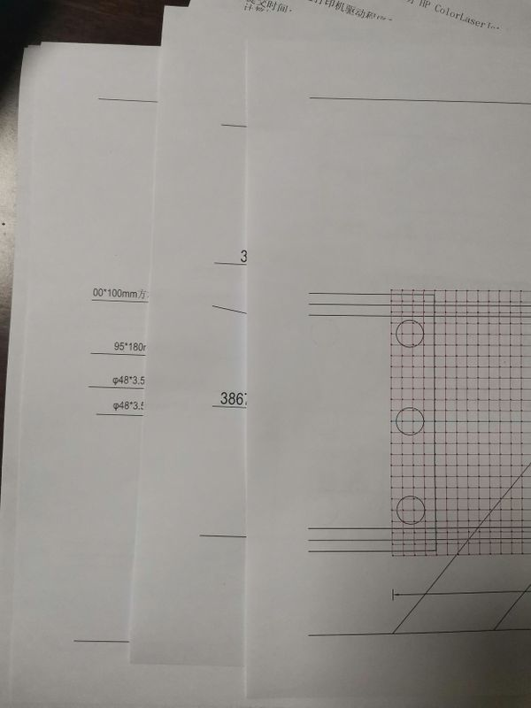 左边边框没打印出来