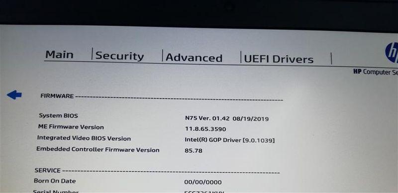 BIOS可以看到升级后版本号