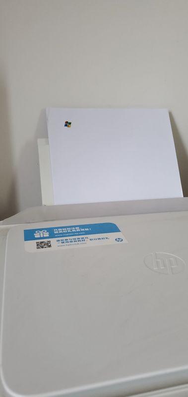 打印出来的测试页