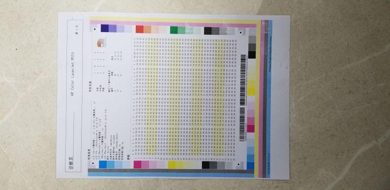 纸盒进纸,歪得不明显,打印区域也不在中间。
