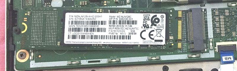 附图一、电脑原配固态硬盘m.2 SATA型