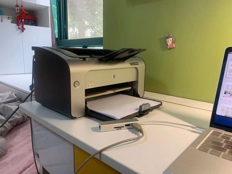通过USB转换插头,将mac连接打印机